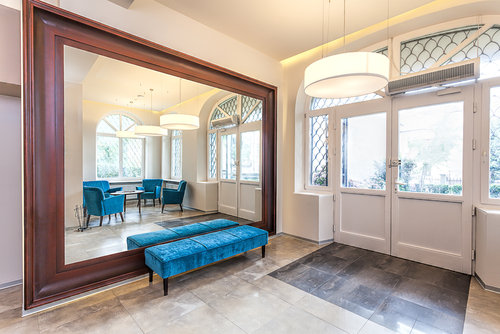Mirror with a Story in Weston Luxury Homes