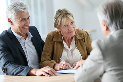 Older Couple Negotiating Delray Beach Real Estate