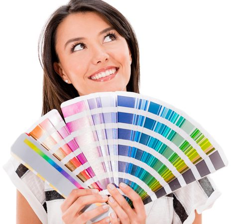 Woman Thinking Paint Colors for Delray Beach Real Estate