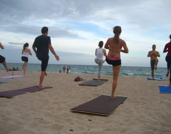Delray Beach Real Estate Beach Front Sunset Yoga Stance