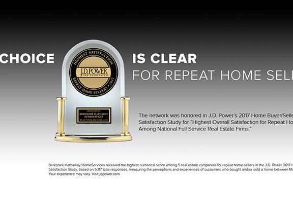 Berkshire Hathaway HomeServices Achieves J.D. Power's Award