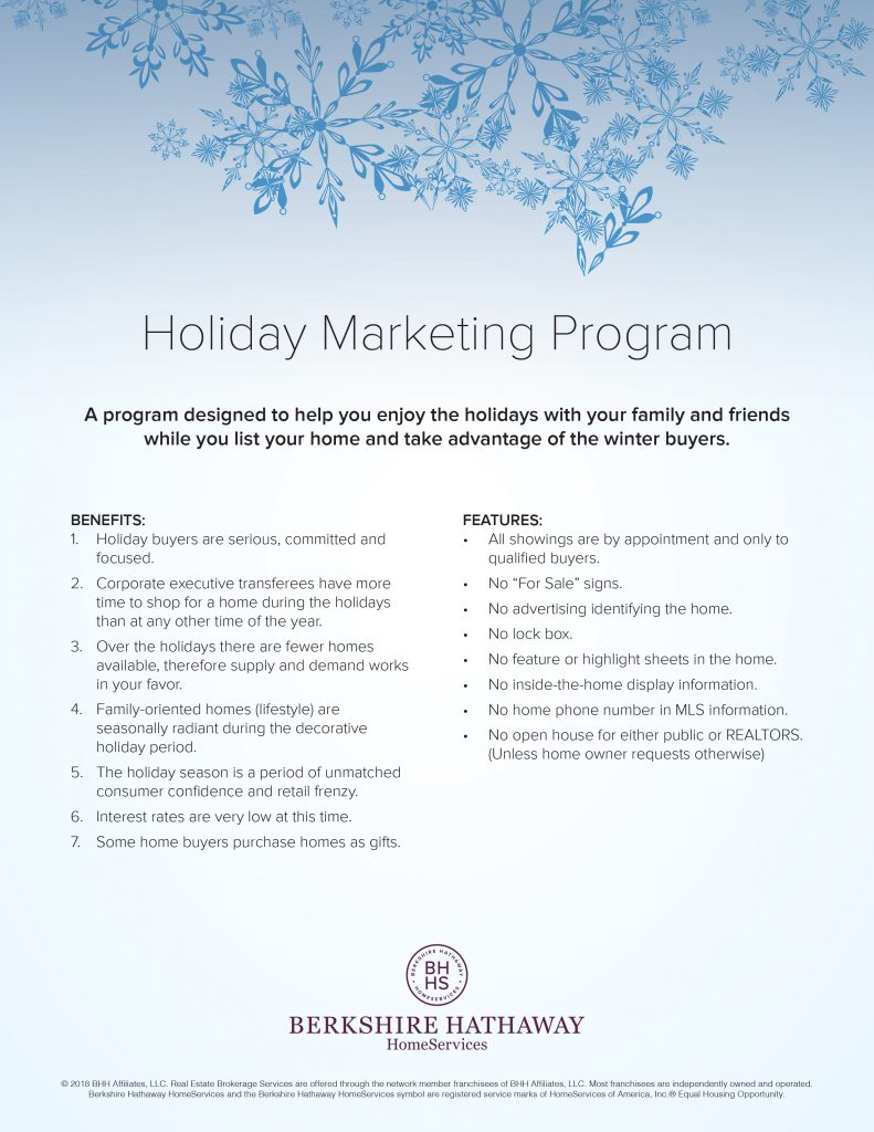 Holiday Marketing Program.indd
